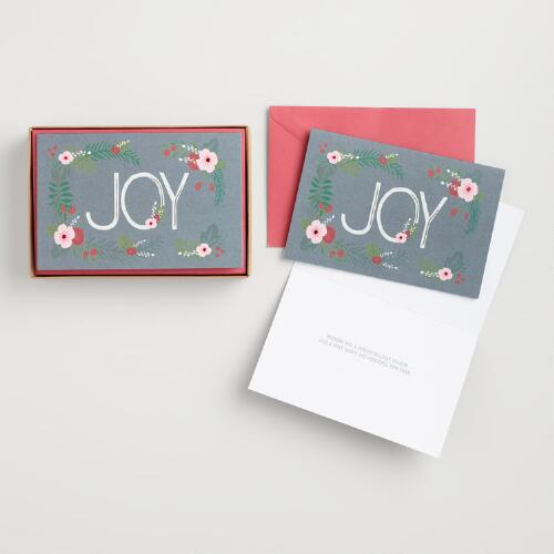 Joyous Bouquet Boxed Holiday Cards Set of 15