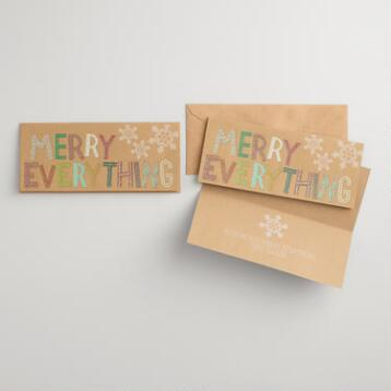 Merry Everything Boxed Holiday Cards Set of 15