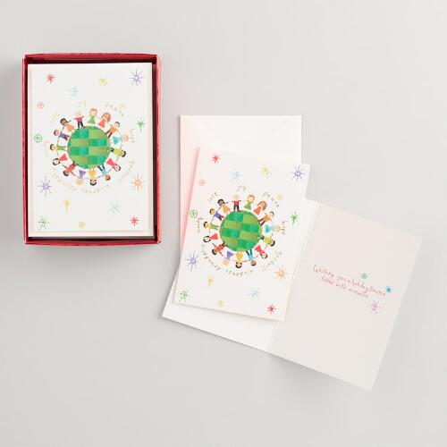 Global Kids Boxed Holiday Cards Set of 15