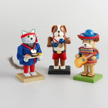 Animal Chubby Nutcrackers Set of 3