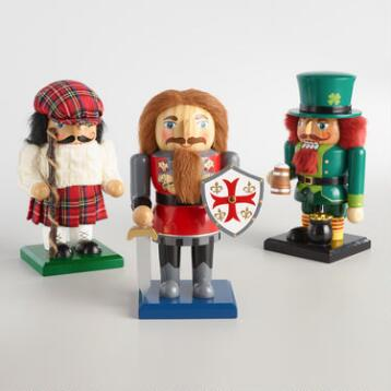 British Isles Chubby Nutcrackers Set of 3