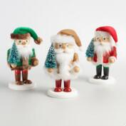 Nordic Santa Chubby Nutcrackers Set of 3