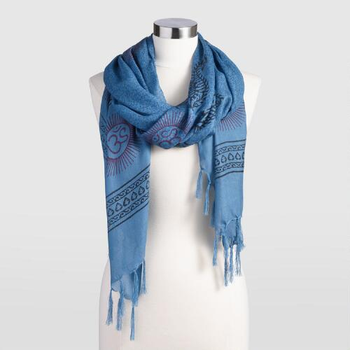 Blue  Prayer Shawl