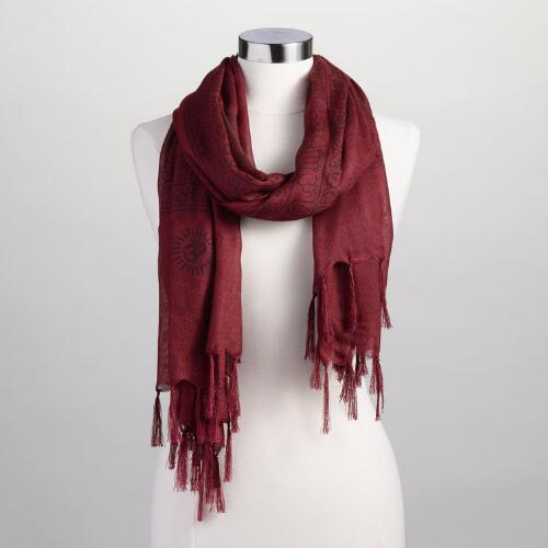 Burgundy Prayer  Shawl