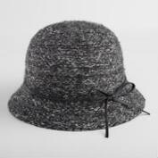 Charcoal Marled Knit Wool Cloche