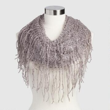 Lavender Sequin Scarf with Fringe