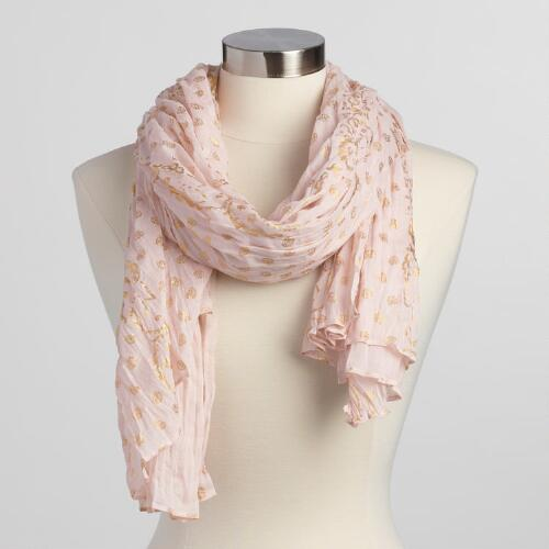 Blush and Gold Scarf