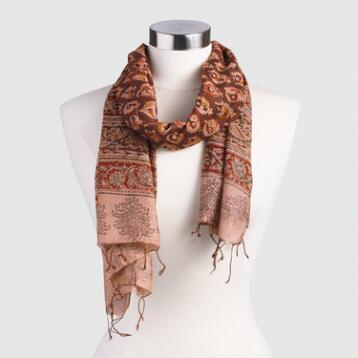 Brown Kalamkari Scarf