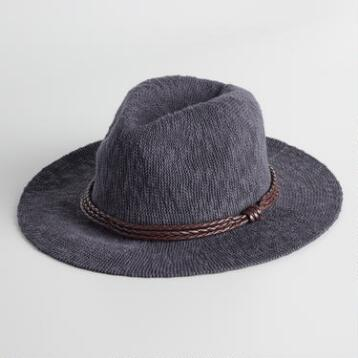Charcoal Knit Rancher Hat