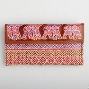 Pink Leather Elephant Wallet