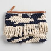 Navy and Ivory Clutch