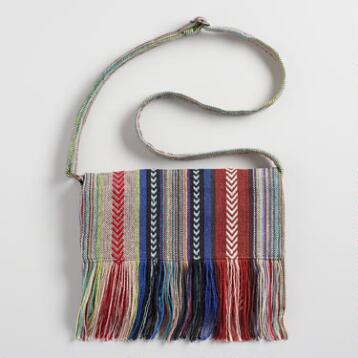 Small Multicolor Woven Crossbody Bag