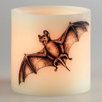 Bat Flameless LED Pillar Candle