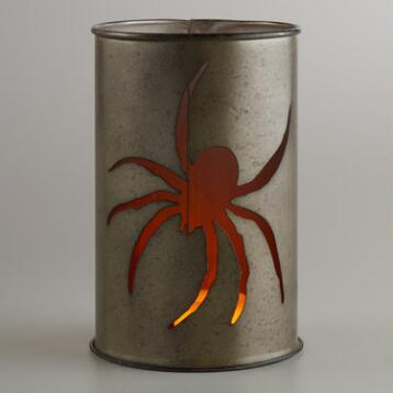 Tin Spider Candleholder Set of 2