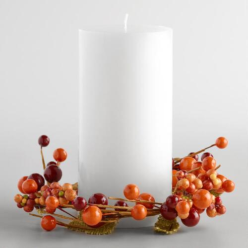 Berry and Burlap Autumn Candle Ring