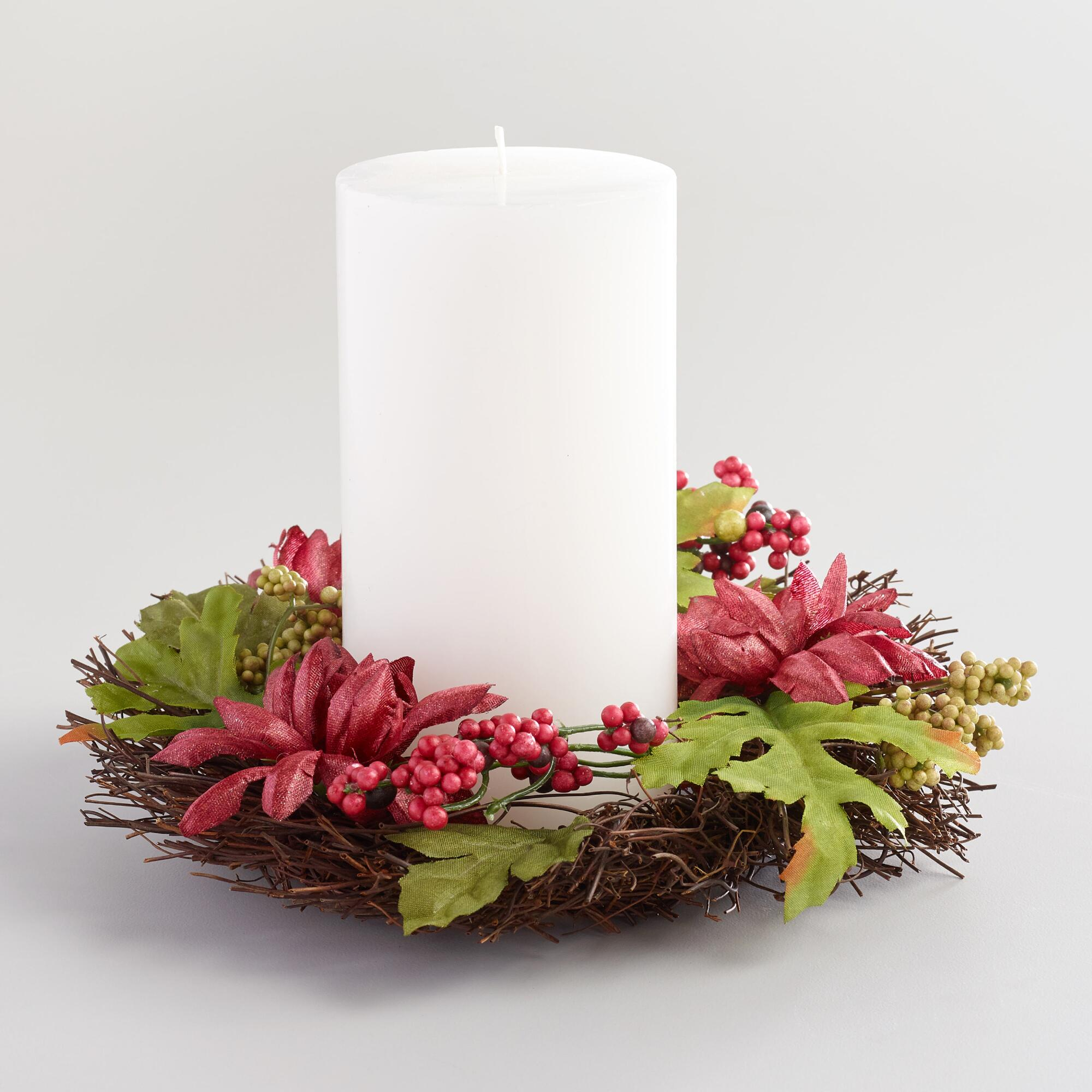 Fall Floral Candle Ring