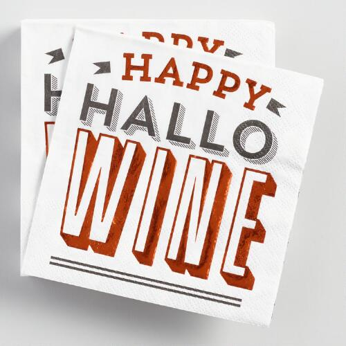 Happy Hallowine Beverage Napkins 20 Count