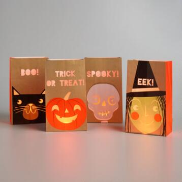 Halloween Luminaries Set of 4