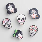 Dia de los Muertos Wood Clips Set of 6