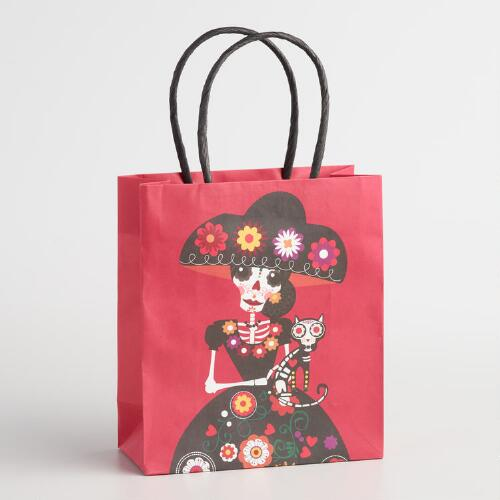 Day of the Dead Maria Small Kraft Bags Set of 2