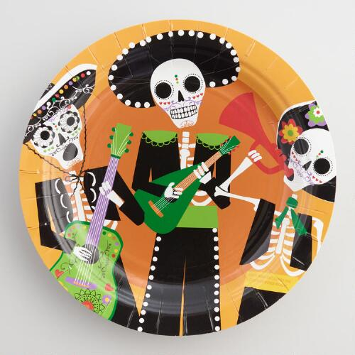 Day of the Dead Paper Plates Set of 12
