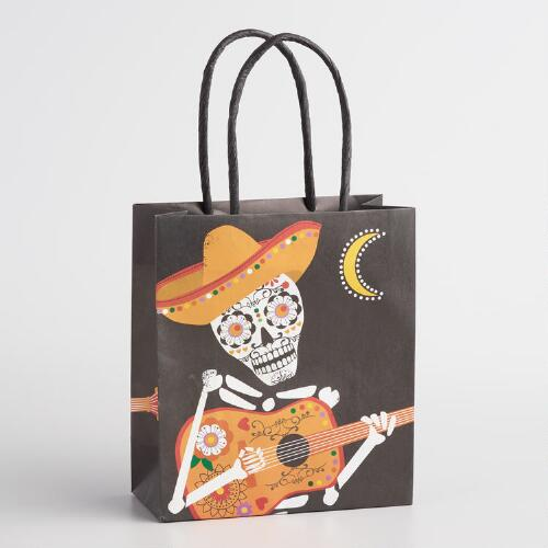 Day of the Dead Manolo Small Kraft Gift Bags Set of 2