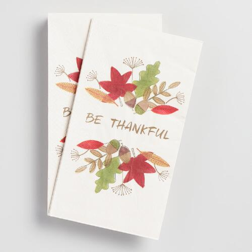Be Thankful Guest Napkins 20 Count