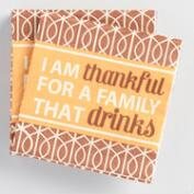 I Am Thankful Beverage Napkins 20 Count