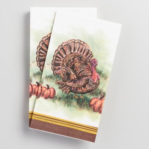 Mr Turkey Guest Napkins 20 Count
