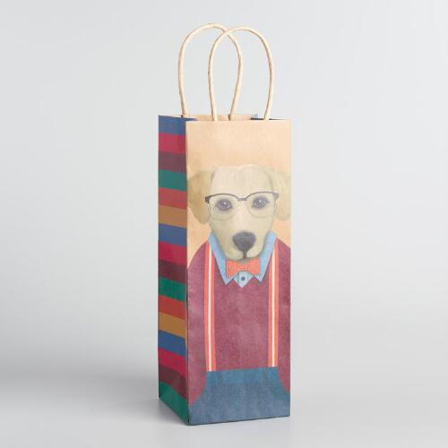 Dog Wine Bags Set of 2