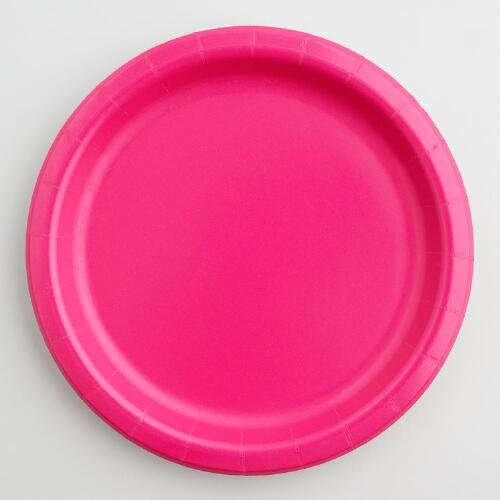 Fuchsia Paper Party Dessert Plates Set of 2
