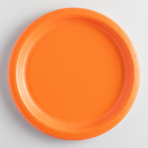 Orange Paper Party Plates Set of 2