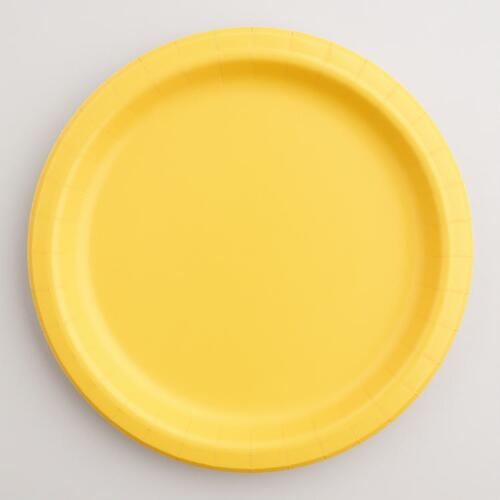 Yellow Paper Party Plates Set of 2