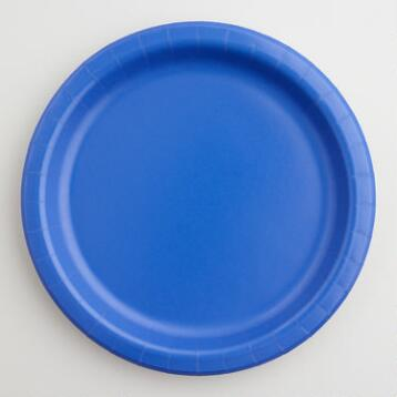Dark Blue Paper Party Plates Set of 2