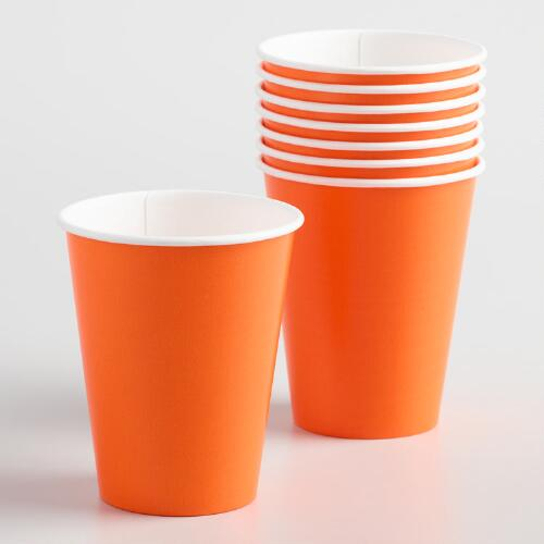 Orange Cups Set of 2