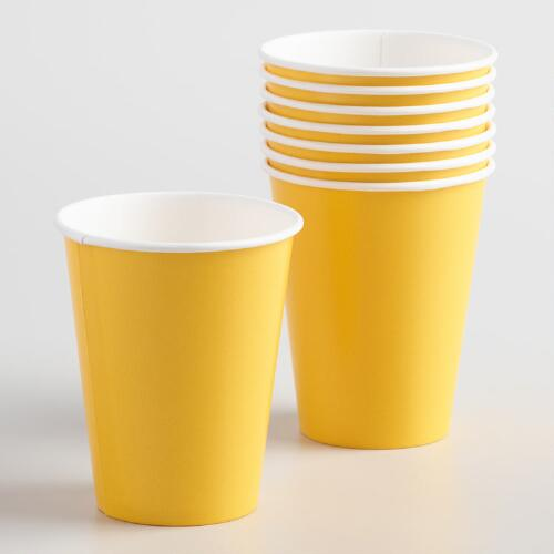 Yellow Cups Set of 2