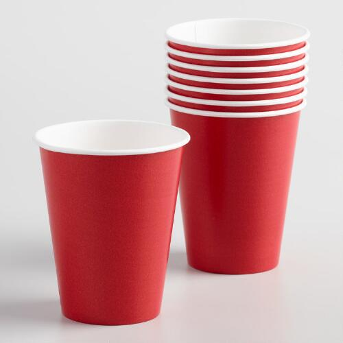 Red Cups Set of 2