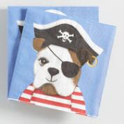 Pirate Dog Beverage Napkins Set of 2