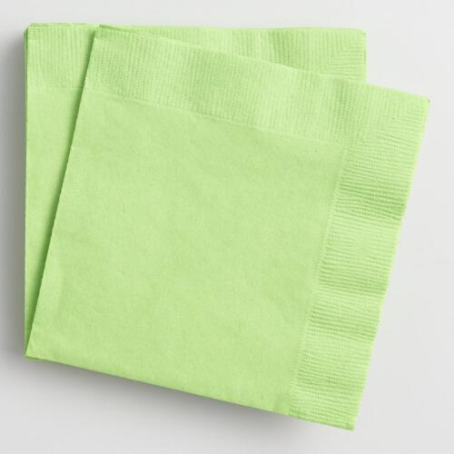 Green Beverage Napkins Set of 2