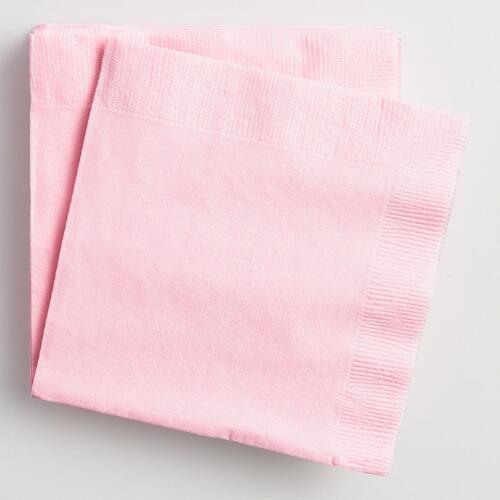Pink Beverage Napkins Set of 2