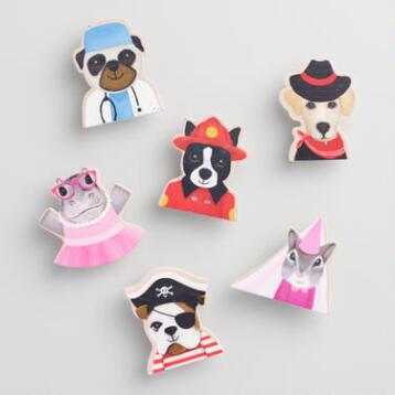 Wood Dress Up Animals Clips