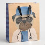 Large Doctor Pug Gift Bag