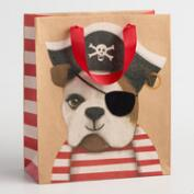 Medium Pirate Bulldog Gift Bags Set of 2