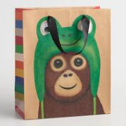 Medium Frog Monkey Gift Bags Set of 2