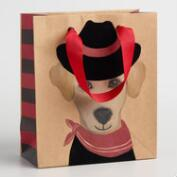 Small Cowboy Dog Gift Bags Set of 2