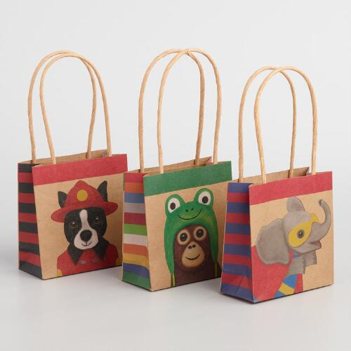 Mini Dressed Up Animals Gift Bags Set of 6