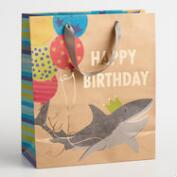 Large Birthday Shark Gift Bag