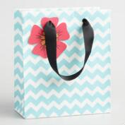 Small Chevron Color Your Own Kraft Gift Bags Set of 2