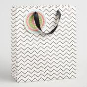 Large Chevron Color Your Own Kraft Gift Bag