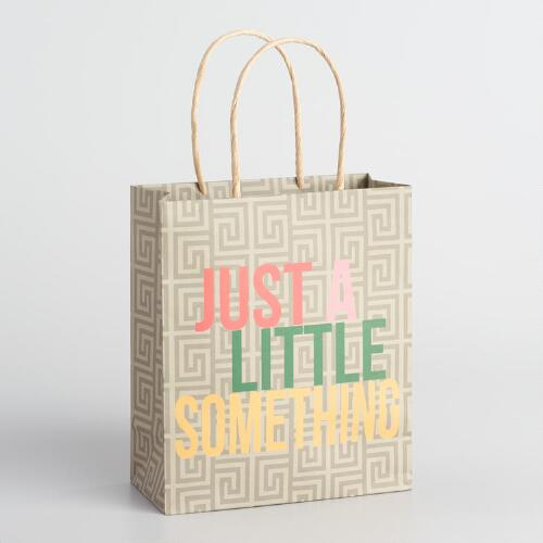Just a Little Something Medium Kraft Gift Bags Set of 2